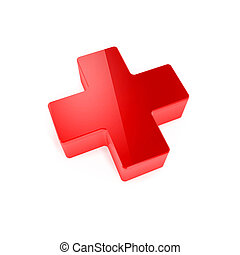 medical red cross Isolated on white background