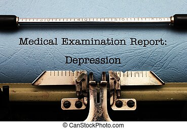 Medical report - depression