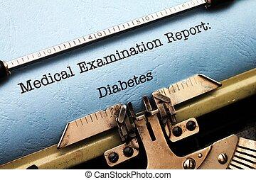 Medical report - Diabetes