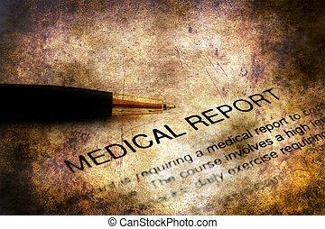 Medical report grunge concept