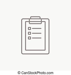 Medical report line icon. - Medical report line icon for...