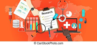 medical research icon science laboratory vector