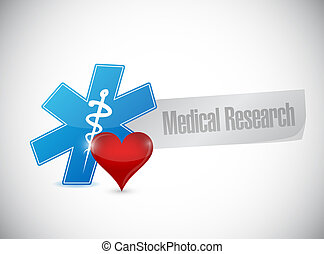 Medical research isolated sign illustration