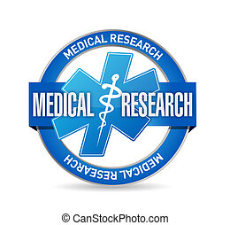 Medical research seal isolated sign