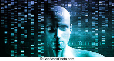 Medical Research in Genetics and DNA Science as Concept