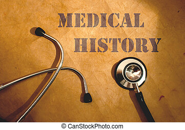 Medical research - Medical history text title next to a...