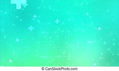 Medical, science and technology connections dots and lines Loop background. Abstract background with molecule DNA. concepts, Molecular structure futuristic structure presentation Animation.