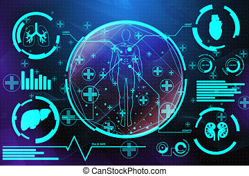 Medical screen background