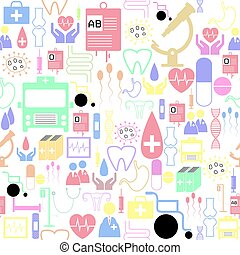 medical seamless pattern background icon.