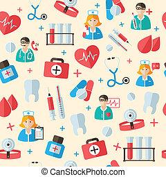 Medical seamless pattern background