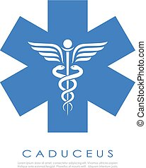 Medical service abstract vector logo