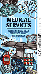 Medical services and equipment sketch