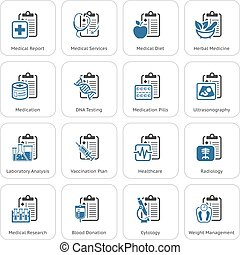 Medical Services and Health Care Flat Icons