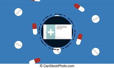 medical set drugs elements animation - medical set drugs...