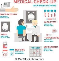 Medical sheckup infographic flat design