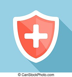 Medical shield flat icon