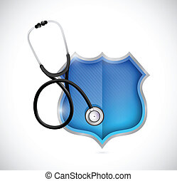 medical shield illustration design