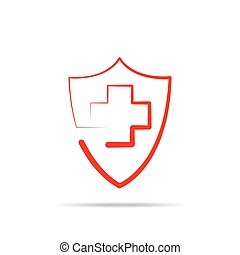 Medical shield, isolated. Vector illustration
