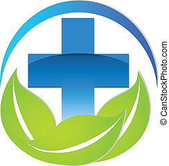 Medical sign natural or alternative medicine vector icon