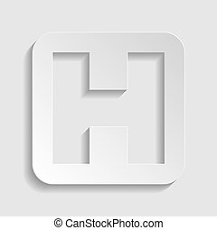 Medical sign. Paper style icon. Illustration.