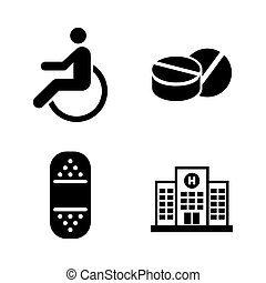 Medical. Simple Related Vector Icons