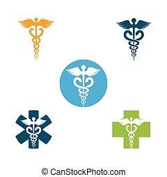 medical snake vector illustration