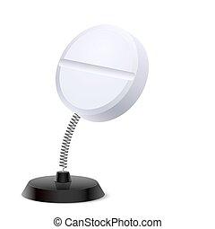 Medical souvenir - Table souvenir in form of white round...