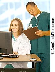 Medical Staff Getting Busy - medical staff getting busy in...