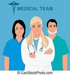 medical staff, team, physician