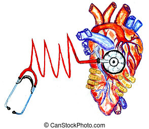 Medical stethoscope art