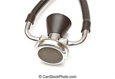 Medical stethoscope closeup