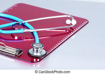 Medical stethoscope.