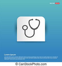 Medical stethoscope icon - Blue Sticker button