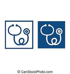 Medical stethoscope icon.
