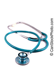 stethoscope - Medical stethoscope on a white background.