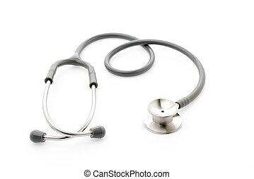 Medical  Stethoscope on white background .