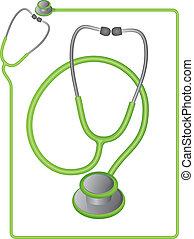 Medical Stethoscope - Stethoscope icon and border