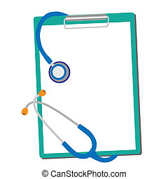 medical stethoscope with form blank