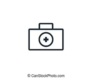 Medical Suitcase, Healthcare Icon Vector Logo Template Illustration Design