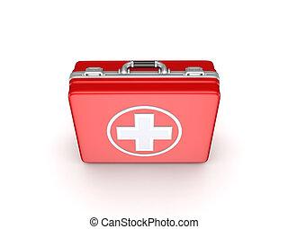 Medical suitcase.