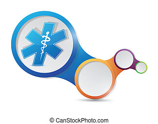 medical symbol and infographic illustration