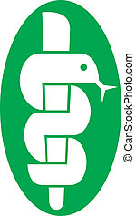 medical symbol caduceus snake