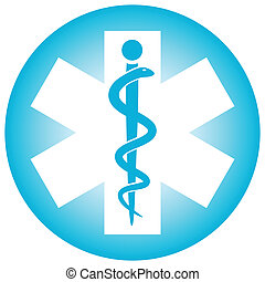 Medical symbol caduceus snake with stick (Vector illustration)