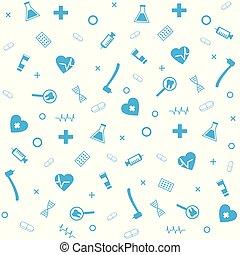 Medical Symbol Dental Pharmacy Seamless Pattern