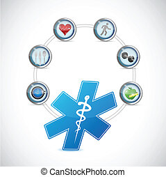 medical symbol health care diagram illustration