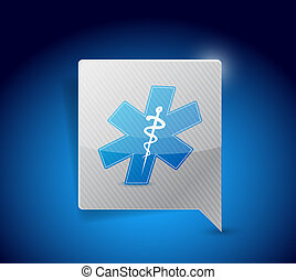 medical symbol message sign illustration design