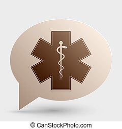 Medical symbol of the Emergency - Star of Life - icon isolated on white background. Vector.