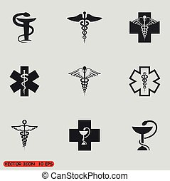 Medical symbol set. Vector