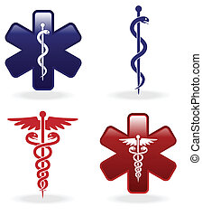 Medical symbols set for web design
