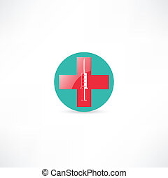 Medical syringe and cross
